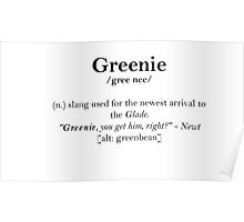 Glader slang dictionary: Greenie Poster