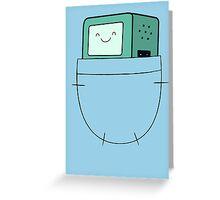 BMO Pocket - Adventure Time Greeting Card