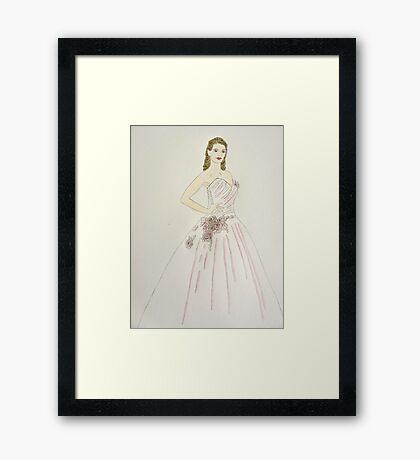 Wedding Dress No 6 Framed Print