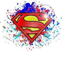 Super Man Street-art Graffiti Logo ' T shirts + More ' Jonny2may by Jonny2may
