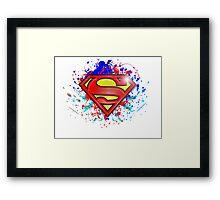 Super Man Street-art Graffiti Logo ' T shirts + More ' Jonny2may Framed Print