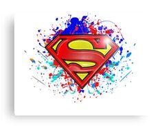 Super Man Street-art Graffiti Logo ' T shirts + More ' Jonny2may Canvas Print