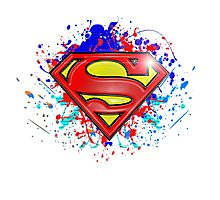 Super Man Street-art Graffiti Logo ' T shirts + More ' Photographic Print