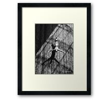 Wall Dive Framed Print