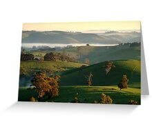 Rolling Hills, Dollar Gippsland Greeting Card