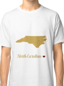 North Carolina map Classic T-Shirt