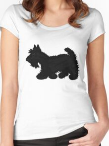 Scotty Dog  Women's Fitted Scoop T-Shirt