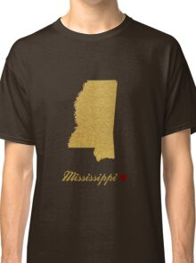 Mississippi map Classic T-Shirt