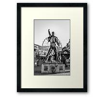 Freddie Mercury Statue  Framed Print