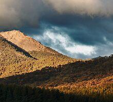 Hills on fire by David Haviland