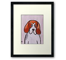 Freddy the foxhound Framed Print
