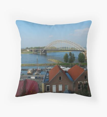 The last bridge taken Throw Pillow