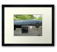 Greenwich Cannon Framed Print