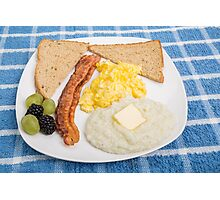 Country Breakfast Photographic Print