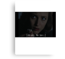Agent/Dr. Dana Scully from X-files: bad news Mulder Canvas Print