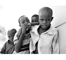 African boys Photographic Print