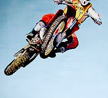 David bailey 1986 Motocross des Nations Canvas by robkinseyart