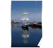 Tall Ship Captured Poster