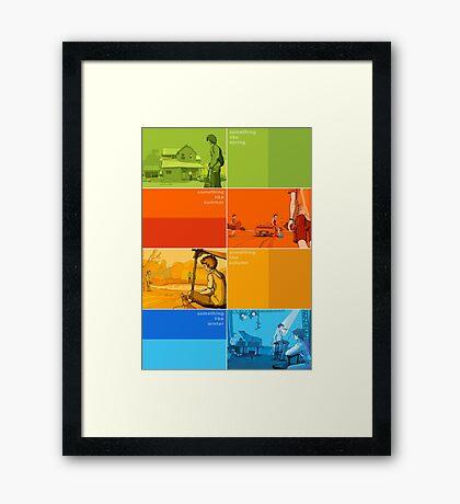 Something Like... series Seasons poster Framed Print