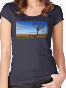 The Rihanna Tree, Alone Women's Fitted Scoop T-Shirt