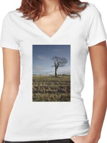 The Rihanna Tree, In Tune Women's Fitted V-Neck T-Shirt