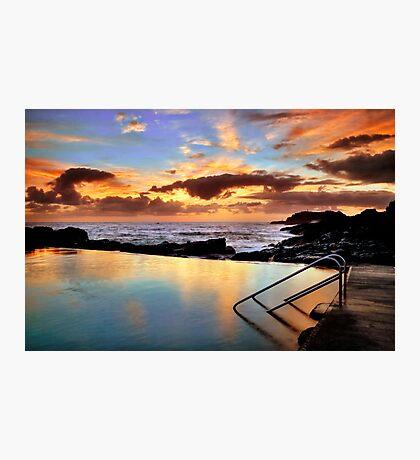 Sunrise Pool Photographic Print