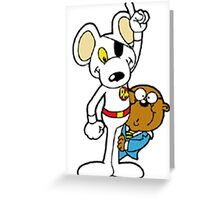 DangerMouse and Penfold Greeting Card