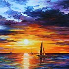 TOUCH OF HORIZON limited edition giclee of L.AFREMOV painting by LeonidAfremov