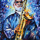 SONNY ROLLINS limited edition giclee of L.AFREMOV painting by LeonidAfremov