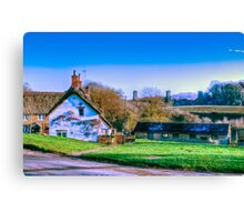 Frosty Morning in Hook Norton Canvas Print