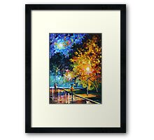 BLUE MOON limited edition giclee of L.AFREMOV painting Framed Print
