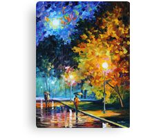 BLUE MOON limited edition giclee of L.AFREMOV painting Canvas Print
