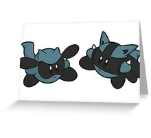 Kirby / Riolu - Lucario Greeting Card