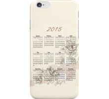 2015 Tan Butterfly Calendar Prints, Skins and Totes iPhone Case/Skin