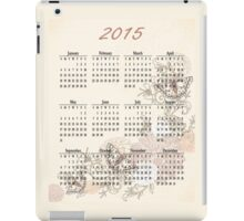 2015 Tan Butterfly Calendar Prints, Skins and Totes iPad Case/Skin