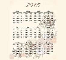 2015 Tan Butterfly Calendar Prints, Skins and Totes by Vickie Emms