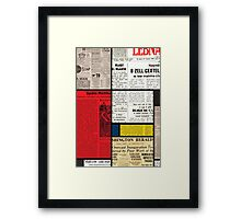 Mondrians News Framed Print