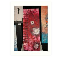 Ruby Red Spatter Head Art Print