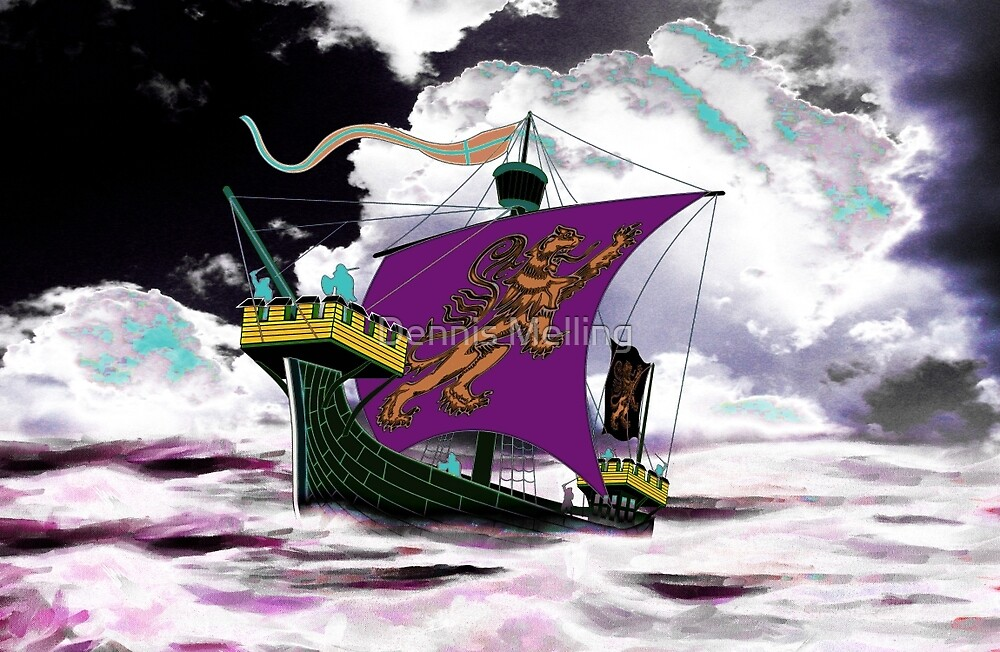 A 13th century English Fighting Ship, the Cog by Dennis Melling