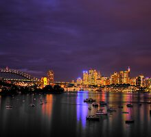 "Lavender ""UnCut"" - Moods of a City #13 - The HDR Series, Sydney Australia by Philip Johnson"