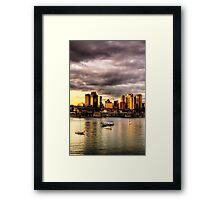 Good Mooring - Moods of A City -#16 - The HDR Series Framed Print