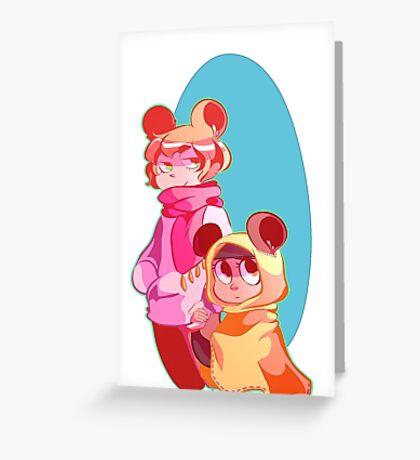 penelope pashmina Greeting Card