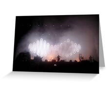 Arctic Monkeys sign Greeting Card