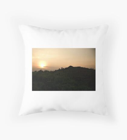 Laos Sunset Throw Pillow