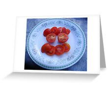 Sliced Tomatoes Greeting Card