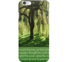 How Still the Tree Photograph and Prose iPhone Case/Skin