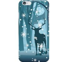 Stag in Winter Forest iPhone Case/Skin