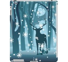 Stag in Winter Forest iPad Case/Skin