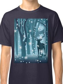 Stag in Winter Forest Classic T-Shirt
