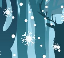 Stag in Winter Forest Sticker